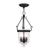 Livex 5083-04 Jefferson 3 Light 10 inch Black Pendant Ceiling Light in Seeded