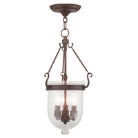 Jefferson 3 Light 10 inch Imperial Bronze Pendant Ceiling Light in Seeded