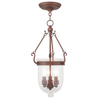 Livex Lighting Jefferson 3 Light Pendant in Vintage Bronze 5083-70