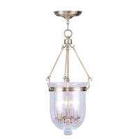 Livex Lighting Jefferson 3 Light Pendant in Antique Brass 5084-01