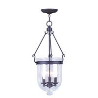 Livex Lighting Jefferson 3 Light Pendant in Bronze 5084-07