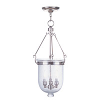 Livex 5084-35 Jefferson 3 Light 12 inch Polished Nickel Pendant Ceiling Light