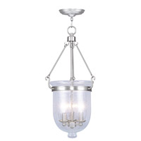 Livex Lighting Jefferson 3 Light Pendant in Brushed Nickel 5084-91