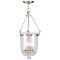 Livex Lighting Jefferson 4 Light Pendant in Antique Brass 5085-01