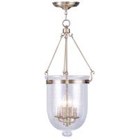 Livex 5085-01 Jefferson 4 Light 14 inch Antique Brass Pendant Ceiling Light