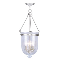 Livex Lighting Jefferson 4 Light Pendant in Brushed Nickel 5085-91