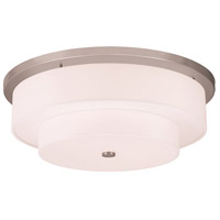 Livex 50867-91 Meridian 5 Light 26 inch Brushed Nickel Flush Mount Ceiling Light