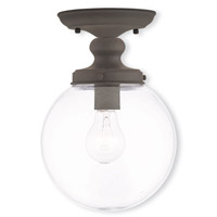 Livex Lighting Sheffield 1 Light Flush Mount in Bronze 50901-07