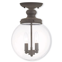 Livex Lighting Sheffield 2 Light Flush Mount in Bronze 50903-07