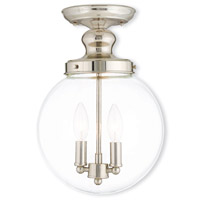 Livex Lighting Sheffield 2 Light Flush Mount in Polished Nickel 50903-35