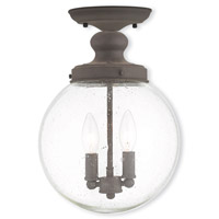 Livex Lighting Northampton 2 Light Ceiling Mount in Bronze 50913-07