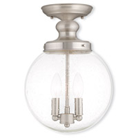 Livex Lighting Northampton 2 Light Ceiling Mount in Brushed Nickel 50913-91