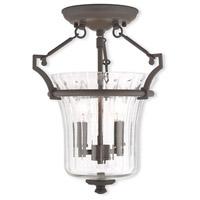 Livex 50921-07 Cortland 2 Light 11 inch Bronze Flush Mount Ceiling Light