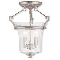 Livex 50921-91 Cortland 2 Light 11 inch Brushed Nickel Flush Mount Ceiling Light