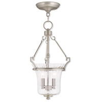 Livex Lighting Cortland 2 Light Pendant in Brushed Nickel 50922-91