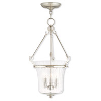 Livex Lighting Cortland 3 Light Pendant in Polished Nickel 50924-35
