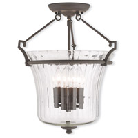 Livex 50925-07 Cortland 4 Light 16 inch Bronze Flush Mount Ceiling Light