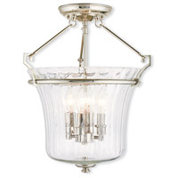 Livex 50925-35 Cortland 4 Light 16 inch Polished Nickel Flush Mount Ceiling Light