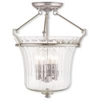 Livex 50925-91 Cortland 4 Light 16 inch Brushed Nickel Flush Mount Ceiling Light