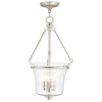 Livex Lighting Cortland 4 Light Pendant in Polished Nickel 50926-35
