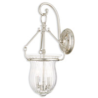 Andover 2 Light 10 inch Polished Nickel Wall Sconce Wall Light