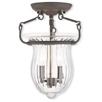 Livex Lighting Andover 2 Light Flush Mount in Bronze 50941-07