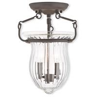 Livex 50941-07 Andover 2 Light 10 inch Bronze Flush Mount Ceiling Light