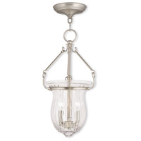 Livex Lighting Andover 2 Light Pendant in Brushed Nickel 50942-91