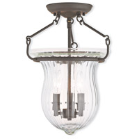Livex Lighting Andover 3 Light Flush Mount in Bronze 50943-07