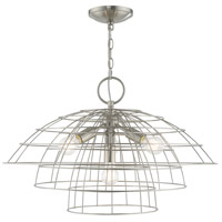 Brooklyn 4 Light 28 inch Brushed Nickel Chandelier Ceiling Light