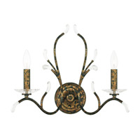 Livex 51002-71 Serafina 2 Light 19 inch Hand Applied Venetian Golden Bronze Wall Sconce Wall Light