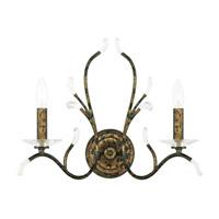 Livex 51002-71 Serafina 2 Light 19 inch Hand Applied Venetian Golden Bronze Wall Sconce Wall Light