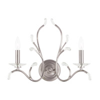 Livex 51002-91 Serafina 2 Light 19 inch Brushed Nickel Wall Sconce Wall Light