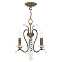 Livex 51003-71 Serafina 3 Light 17 inch Hand Applied Venetian Golden Bronze Convertible Mini Chandelier Ceiling Light