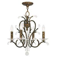 Livex 51004-71 Serafina 4 Light 20 inch Hand Applied Venetian Golden Bronze Mini Chandelier Ceiling Light