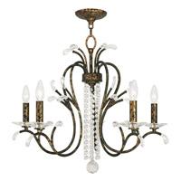 Livex 51005-71 Serafina 5 Light 26 inch Hand Applied Venetian Golden Bronze Chandelier Ceiling Light