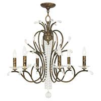 Livex 51006-71 Serafina 6 Light 28 inch Hand Applied Venetian Golden Bronze Chandelier Ceiling Light