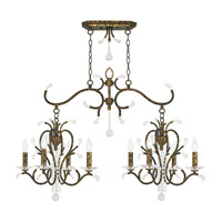 Livex 51007-71 Serafina 8 Light 43 inch Hand Applied Venetian Golden Bronze Island Light Ceiling Light