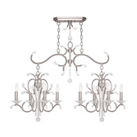 Livex 51007-91 Serafina 8 Light 43 inch Brushed Nickel Island Light Ceiling Light