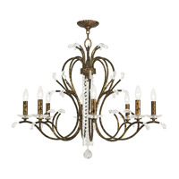 Livex Serafina 8 Light Chandelier in Hand Applied Venetian Golden Bronze 51008-71