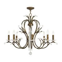 Livex 51008-71 Serafina 8 Light 33 inch Hand Applied Venetian Golden Bronze Chandelier Ceiling Light