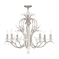 Livex 51008-91 Serafina 8 Light 33 inch Brushed Nickel Chandelier Ceiling Light