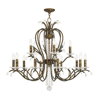 Serafina 15 Light 38 inch Hand Applied Venetian Golden Bronze Chandelier Ceiling Light