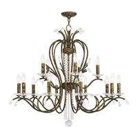 Livex 51009-71 Serafina 15 Light 38 inch Hand Applied Venetian Golden Bronze Chandelier Ceiling Light