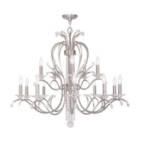 Livex Serafina 15 Light Chandelier in Brushed Nickel 51009-91