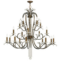 Serafina 20 Light 47 inch Hand Applied Venetian Golden Bronze Foyer Chandelier Ceiling Light