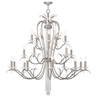 Livex 51010-91 Serafina 20 Light 47 inch Brushed Nickel Foyer Chandelier Ceiling Light