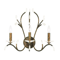 Livex 51013-71 Serafina 3 Light 20 inch Hand Applied Venetian Golden Bronze Wall Sconce Wall Light