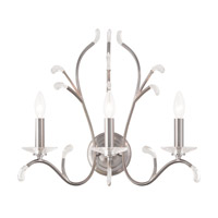 Livex 51013-91 Serafina 3 Light 20 inch Brushed Nickel Wall Sconce Wall Light