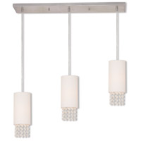 Carlisle 3 Light 28 inch Brushed Nickel Linear Chandelier Ceiling Light